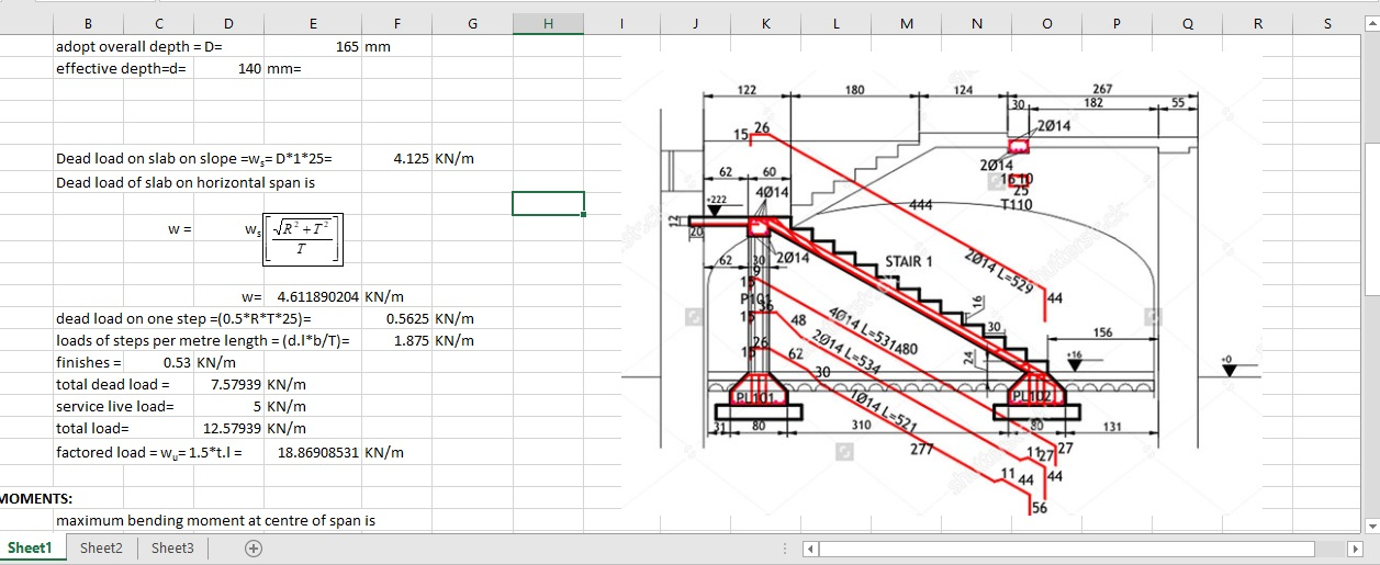 Design Of Reinforced Concrete Staircase